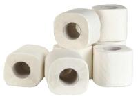 012 Туалетная бумага в стандартных рулонах с перфорацией, 2-слоя, белая, 17м.
