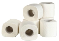 013 Туалетная бумага в стандартных рулонах с перфорацией, 2-слоя, белая, 25м.