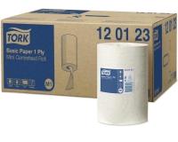 120123 Tork Basic Протирочный материал бумажный центральная вытяжка в мини рулоне 120м.