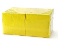 404 Салфетки бумажные сервировочные БигПак [240мм²] желтые