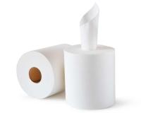 920 Полотенца в рулонах с центральной вытяжкой без перфорации, 1-слой, белые, 120м.