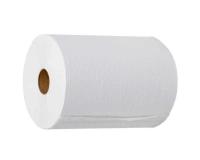 990 Полотенца бумажные в рулонах без перфорации, 2-слоя, белые, 150м. под СЕНСОР