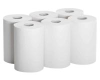 998 Полотенца бумажные в рулонах с перфорацией, 2-слоя, белые, 60м.