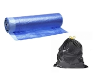 "Мешки для мусора ""ПНД"" с завязками, 35 литров, 12 мкм., 15шт./рул."