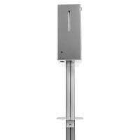 Мобильная стойка для размещения дозатора дезинфекции рук HÖR-50 (универсальная)  Высота стойки (общая) : 1460 мм Диаметр основания: 330 мм Вес нетто: 3,75 кг