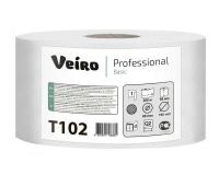 T102 Туалетная бумага без перфорации 200м. Veiro Professional