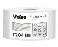 T204 Туалетная бумага без перфорации 170м. Veiro Professional