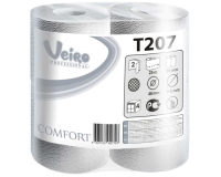 T207/1 Туалетная бумага в стандартных рулонах (бытовая) с перфорацией 15м. Veiro Professional