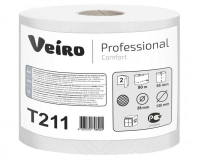 T211 Туалетная бумага с перфорацией мини рулоны 80м. Veiro Professional
