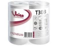 T308 Туалетная бумага в стандартных рулонах (бытовая) с перфорацией 25м. Veiro Professional