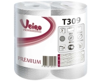 T309 Туалетная бумага в стандартных рулонах (бытовая) с перфорацией 20м. Veiro Professional