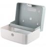 Ksitex TH-404W Диспенсер для бумажных полотенец в листах, выполнен из белого пластика. Защищен замком.