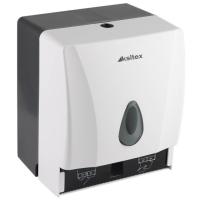 Ksitex TH-8218A Держатель бумажных листовых и рулонных полотенец. Ударопрочный пластик. Замок. Цвет: Белый.